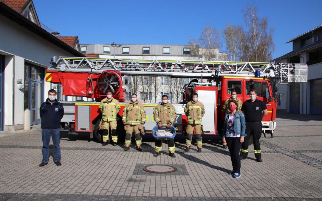 Behelfs-Mund-Nase-Masken für die Freiwillige Feuerwehr Unterschleißheim