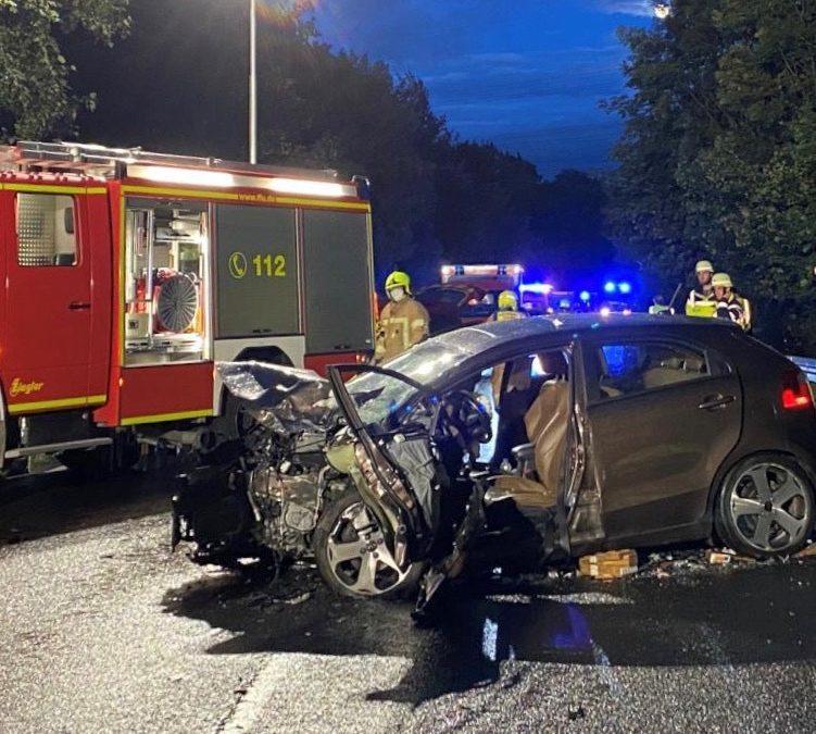 Schwerer Verkehrsunfall am Maisteiger Berg